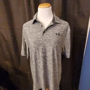 Under Armour Gray Short Sleeve Polo Shirt